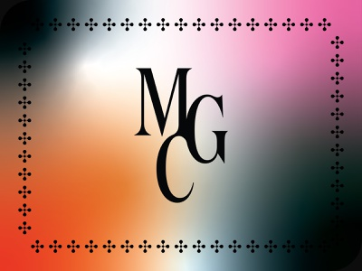 MGC glyph symbol gradient artist logo identity type brand design branding