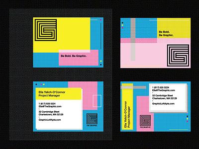 Unused Stationery cmyk halftone graphic business card design identity pattern logo branding brand typography type