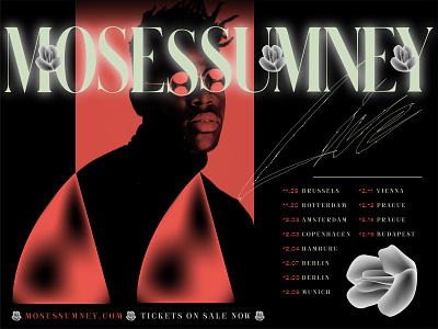 4O Days / 4O Nights tour moses sumney red designer poster concert poster concert music illustrator art vector illustration identity typography design type brand branding