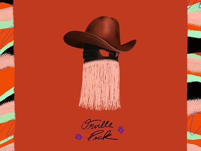 Orville Peck, ily 🤠 procreate lgbtq cowboy concert logo minimal design illo orange country orville peck poster music identity vector illustration