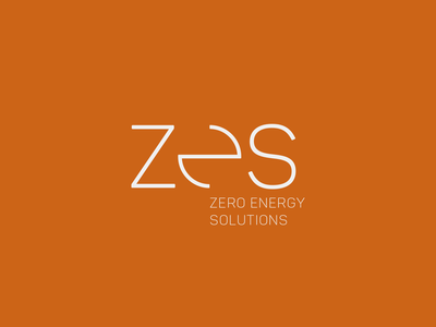 Zero energy solutions :: brand by joshua typography branding brand-by-joshua logo brand