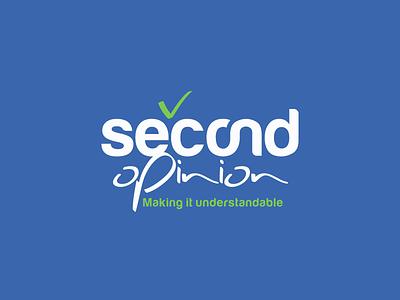 Second Opinion typography brand-by-joshua logo branding