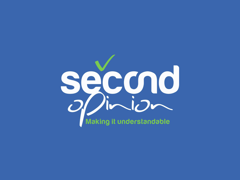 Second Opinion typography brand-by-joshua logo branding