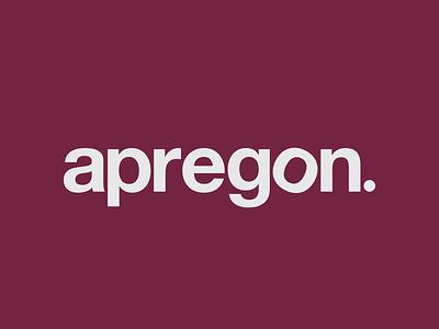 Apregon logo rebrand branding typography brand-by-joshua logo