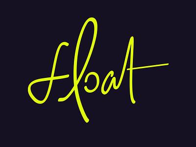 Float typography logo branding