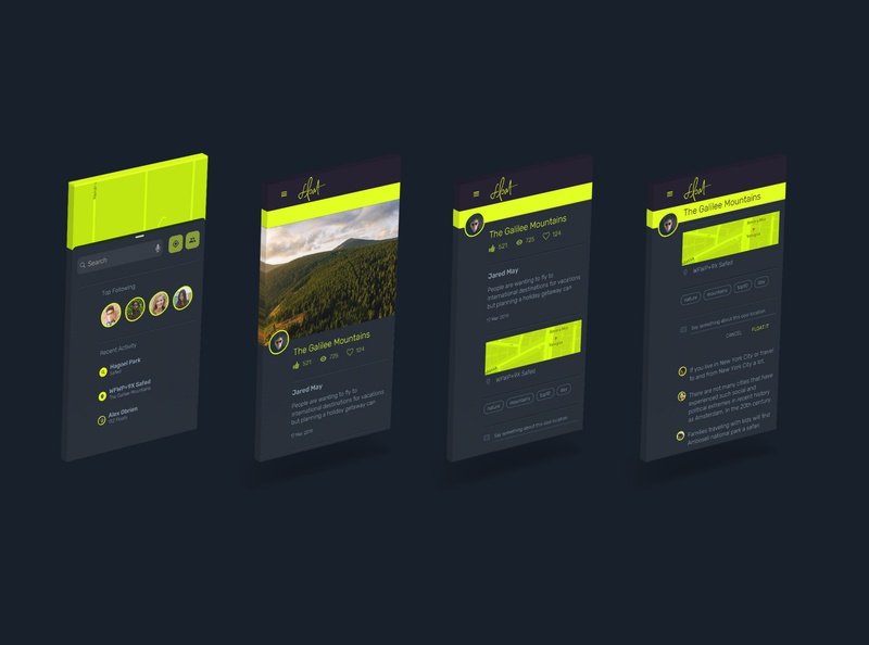 float - mobile app design drone location ui design brand design mobile app design product design uxdesign uxui ui brand-by-joshua