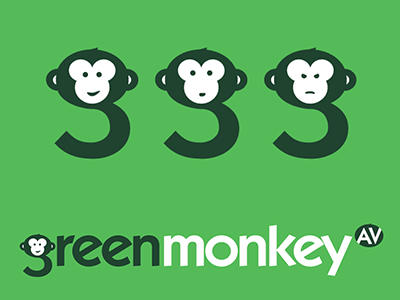 Green Monkey Logo Design design logo
