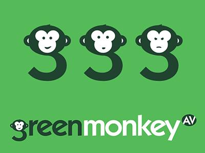 Green Monkey Logo Design design logo
