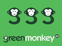Green Monkey Logo Design