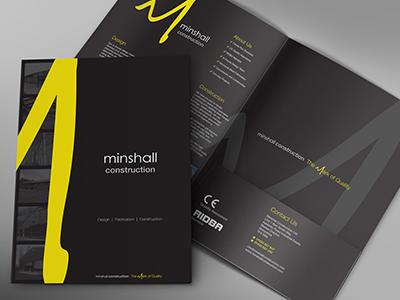 Minshall Folder Design design folder presentation