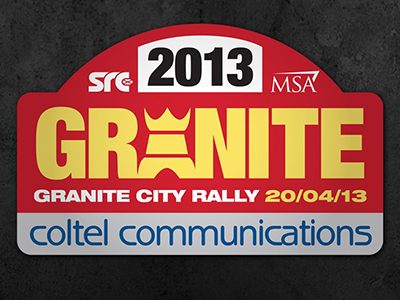 Granite City Rally Logo Design motorsport rally plate logo design