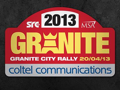 Granite City Rally Logo Design motorsport rally plate logo design
