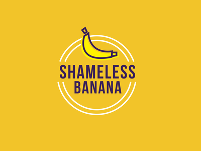 Shameless Banana Logo bananas shameless plastic awareness sustainable sustainability enviroment plastic bag banana minimal flat logo illustration branding design