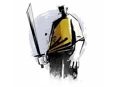 Swordsman painting characterdesign comic art flat design sketch drawing illustration graphic  design