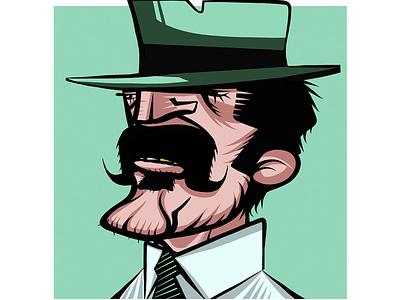 Mafioso mafia portrait comic painting drawingart art sketch drawing characterdesign cartoon design illustration graphic  design