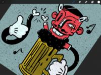 Beer character doodle