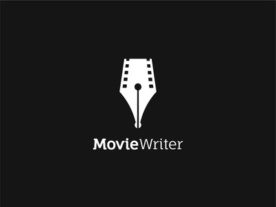 MovieWriter design cleverlogo logos clever abstract creative minimal logotype simple mark symbol logo design logo