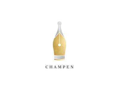 Champagne + pen cleverlogo elegant luxury logo luxury logodesign esense creative simple logotype symbol mark logo design logo