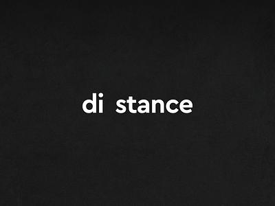 Distance gap simple white black symbol mark word logotype effect logo