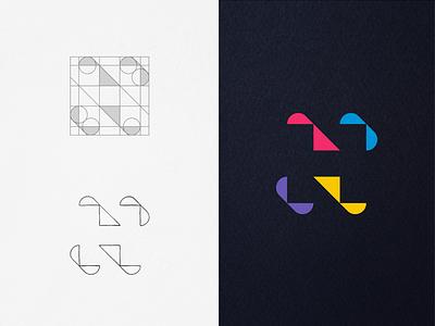 H monogram guidelines playful simple abstract minimal creative logos logogrid construction grids colors negativespace mark symbol monogram letter mark monogram logomonogram logodesign logo
