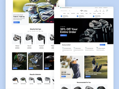 Callaway Golf Pre-Owned store e-commerce website redesign golf ux ui