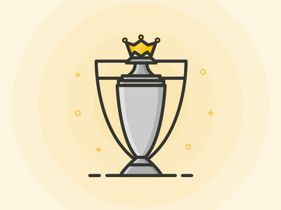 Premier League Trophy Outline Icon line icon outline icon outline icon soccer football