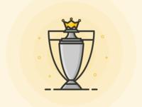 Premier League Trophy Outline Icon