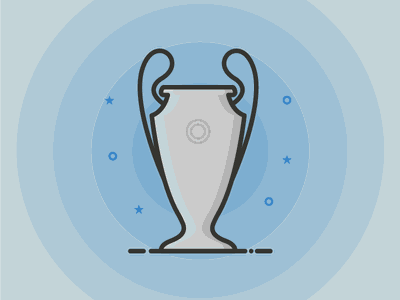 Champions League Trophy Outline Icon champions icon outline football soccer