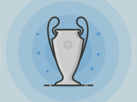 Champions League Trophy Outline Icon