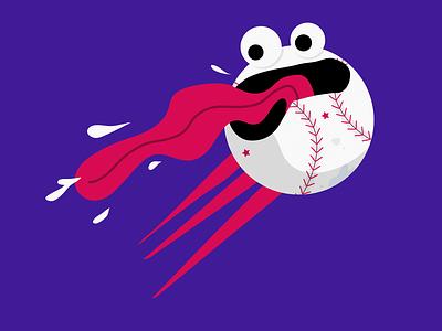 La bola se va... se va... home run illustration ball baseball