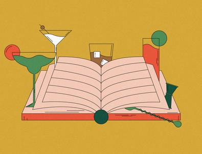 Cocktail Book illustration vineopair beer wine spirits liquor cookbook recipe book cocktail