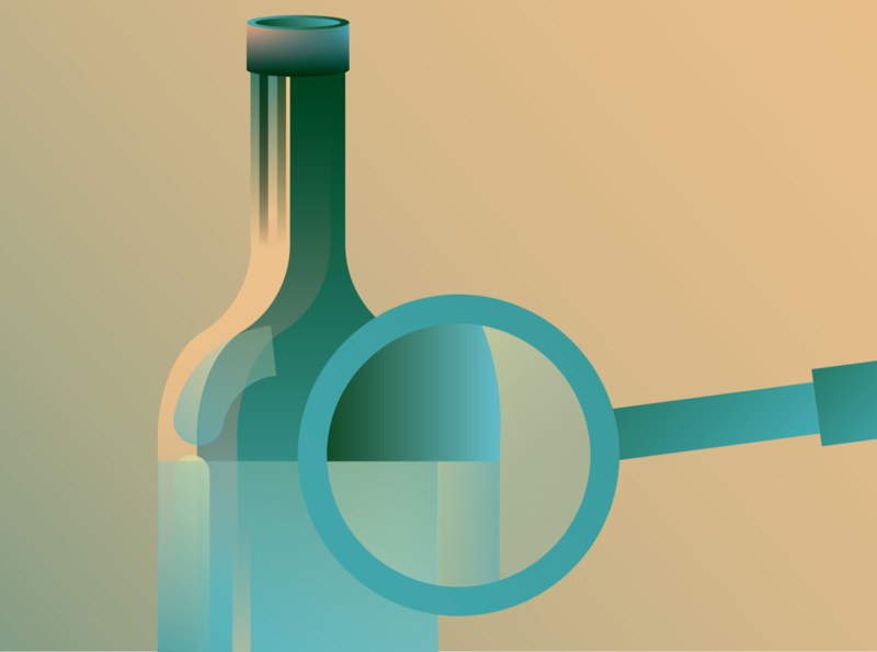 Clean Wine Debate vinepair alcohol booze liquor debate discover magnifying glass clean wine wine clean