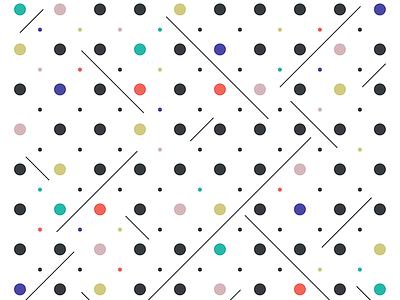 Dots & Diagonals circle color pattern illustration diagonal lines dots