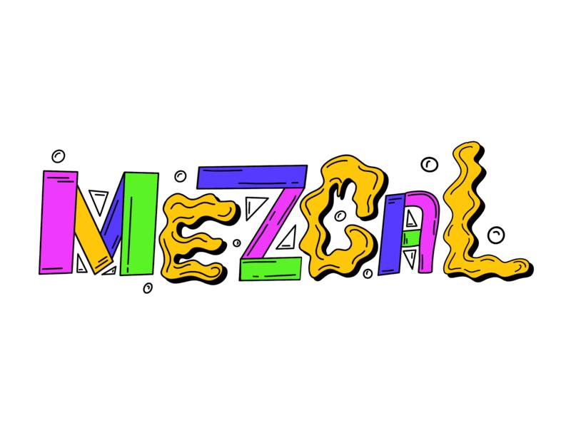 How I feel when I'm tipsy on mezcal... booze liquor drink bright color apple pencil ipad pro ipad procreate hand lettering mezcal