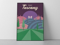 Tuscany Travel Poster