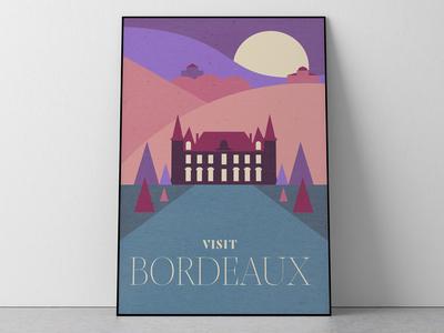 Bordeaux Travel Poster