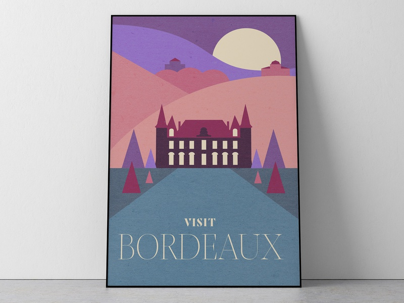 Bordeaux Travel Poster poster wanderlust travel vinepair booze wine winery vineyard burgundy french wine france merlot cabernet sauvignon bordeaux