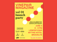 VinePair Magazine Launch Party Invitation