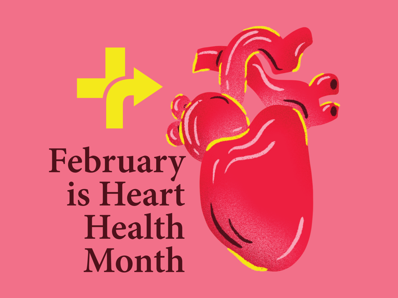 Heart Health Month - Rightway Healthcare illustration body parts wellness doctor rightway healthcare medical heart health heart