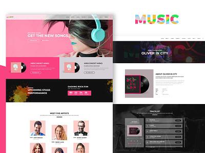 Music musician music studio music shop music player music event music album music clean color design ui elegant design