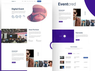 Event PSD Template mobile branding conference conference management corporate event creative event event management event tickets event website meeting meetup workshop webdesign event home page dribbble best shot design website modern event template event landing page