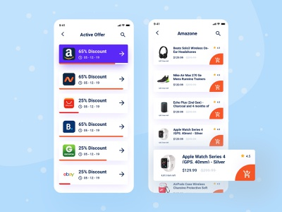 Affiliate offer listing design mobile mobile app design campaign marketing dribbble simple discounts modern sketch app clean ui typogaphy elegant design creative ux design listing offer affiliate