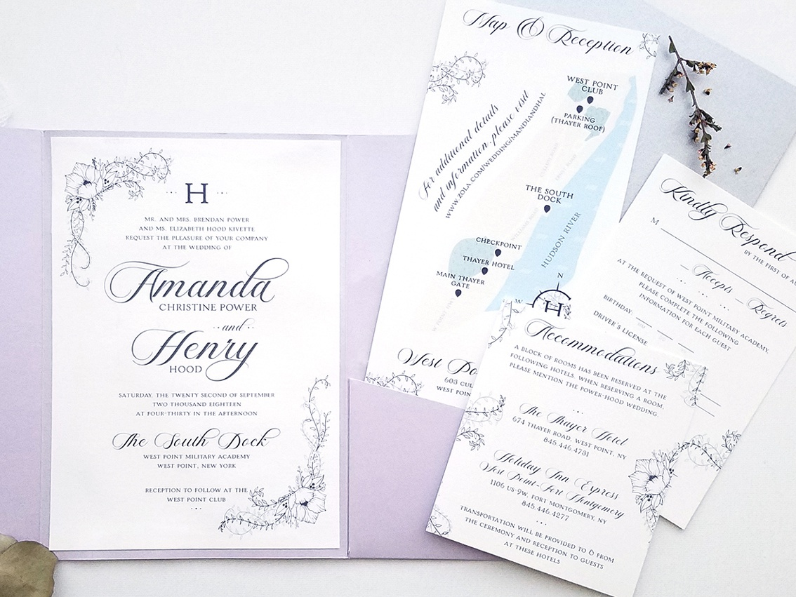 Hood Wedding Invitation Suite by Allison Pastor - Dribbble