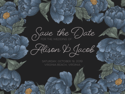 Digitally Illustrated Save the Date