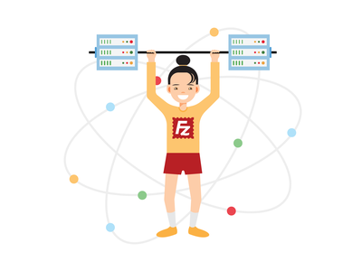 Powerful & Innovative Web Hosting Illustration