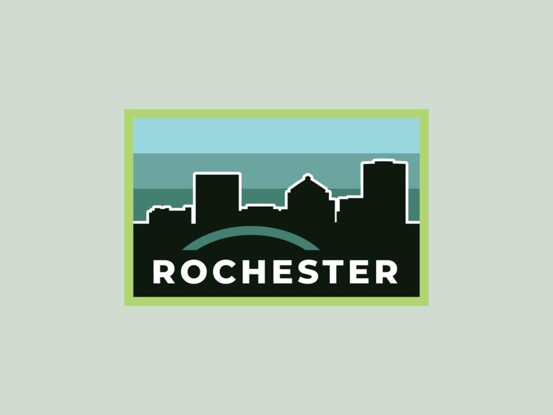 Rochester Badge v.2 badge logo badgedesign badge rochester branding vector logo illustration design
