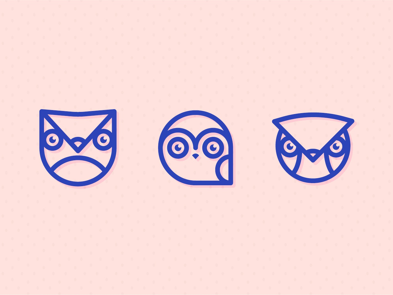 Owl Icons branding digital illustration vector-illustration illustrator illustration design vector icons owl icon icon owls owl