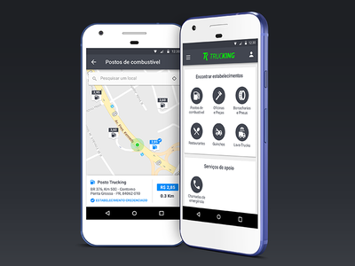 Trucking App android app ui mobile interface app android