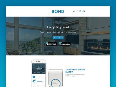 Bond Landing Page web design landing page web ui interface app