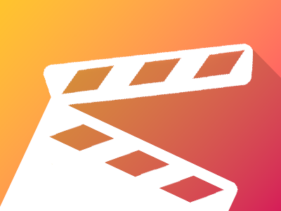 Movie App (Clapperboard) - Icon logo app icon shading design material clapperboard movie